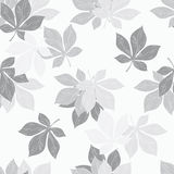 Background of chestnut leaves. Seamless ornament. Pattern .made from the leaves of chestnut, made in graphic art stock illustration