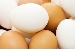 Background from chicken eggs Stock Photo
