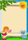 Background child with flower Royalty Free Stock Photography