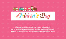 Background children day style collection. Vector illustration Stock Photos