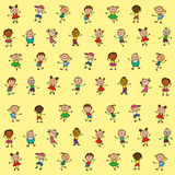 Background children. Drawing of children for background stock illustration