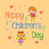Background childrens day doodle style Royalty Free Stock Photos