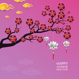 Background Chinese New Year. Vector illustration. Background Chinese Clouds and Lanterns Chinese New Year. Vector illustration stock illustration