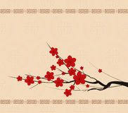 Background with chinese lanterns Stock Photos