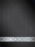 Background Chinese lattice pattern black silver Stock Photography