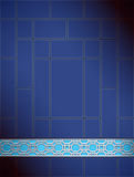 Background Chinese lattice pattern blue silver Royalty Free Stock Photos