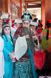 The background of the Chinese opera actor Royalty Free Stock Images
