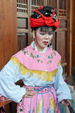The background of the Chinese opera actor Royalty Free Stock Photos