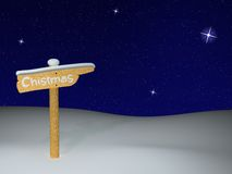 Background chistmas. Background with the image of the wooden signpost in snow Royalty Free Illustration