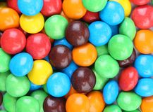 Background of chocolate balls in colorful glaze. Royalty Free Stock Image