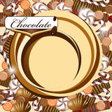 Background with chocolate candy Stock Photography