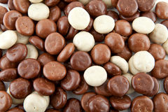 Background of chocolate gingernuts, pepernoten Stock Photos