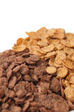 Background of chocolate and gold cornflakes Stock Photography