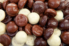 Background of chocolate pepernoten  Typical Dutch candy for Sint Royalty Free Stock Photo