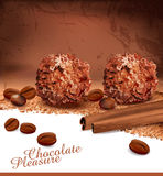 Background with chocolates Stock Photos
