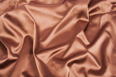 Background of chocolote brown folded silk Royalty Free Stock Photos