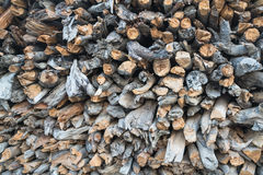 Background of the   chopped firewood   in Annapurna circuit,trek Stock Photo