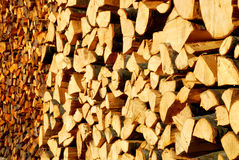 Background of chopped logs. Background of stack or pile of chopped wooden logs Royalty Free Stock Photos