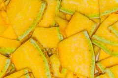 Background of chopped pumpkin and zucchini slices Royalty Free Stock Photo