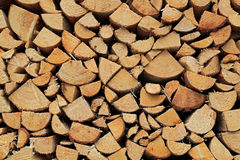 Background of Chopped and Stacked Firewood Royalty Free Stock Photo