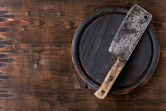 Background with chopping board Royalty Free Stock Photography