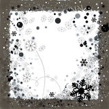 Background for Christmas. Christmas season border with snowflakes Royalty Free Stock Photography