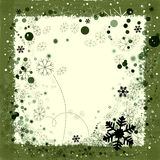 Background for Christmas. Christmas season border with snowflakes Stock Photo