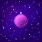 Background with Christmas ball Royalty Free Stock Image