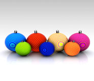 Background with Christmas ball decorated Royalty Free Stock Image