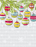 Background with christmas balls,  Stock Images
