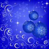 Background with Christmas balls Stock Image