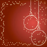 Background with christmas balls. Red holiday background with Christmas balls Royalty Free Stock Image