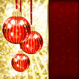 Background with Christmas balls Stock Photos
