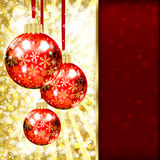 Background with Christmas balls Stock Photo