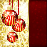 Background with Christmas balls Royalty Free Stock Photos