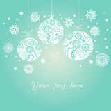 Background with Christmas balls on blue. Background with balls on blue royalty free illustration