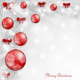 Background with Christmas balls. And bows Stock Photo
