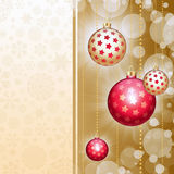 Background with christmas balls and circles Royalty Free Stock Image