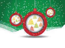 Background with Christmas balls. Eps 10 stock illustration