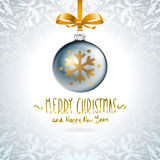 Background with Christmas balls. Eps 10 grey Stock Photo