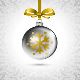 Background with Christmas balls. Eps 10 silver Stock Photo