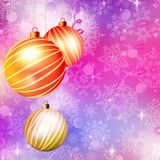 Background with Christmas balls. EPS 10 Stock Photography