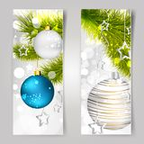 Background with christmas balls. This is file of EPS10 format Stock Photography
