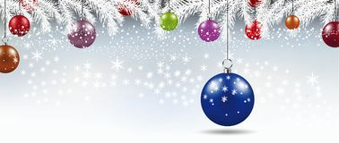 Background with Christmas balls illustration. Background with Christmas balls illustration Stock Photography