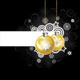 Background with Christmas balls, illustration Royalty Free Stock Photo
