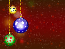 Background with Christmas balls. New year illustration Stock Photography