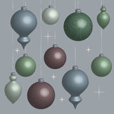 Background Christmas balls soft in 3D. Vector Royalty Free Stock Photo