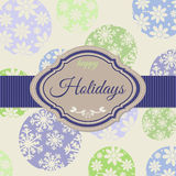 Background with christmas balls. And space for text, vintage vector illustration