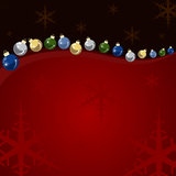 Background Christmas balls and stars Royalty Free Stock Photo