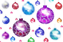 Background with Christmas balls. Christmas balls on a white background Stock Image